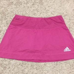 Adidas pink athletic skort